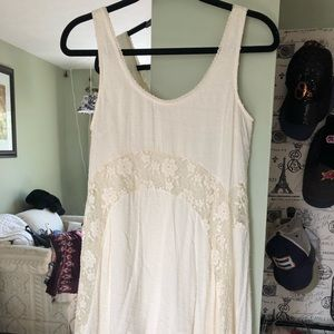 White Lacey swing dress
